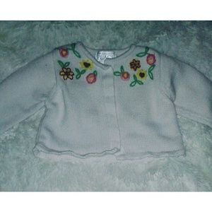 GIRL'S Floral Cardigan
